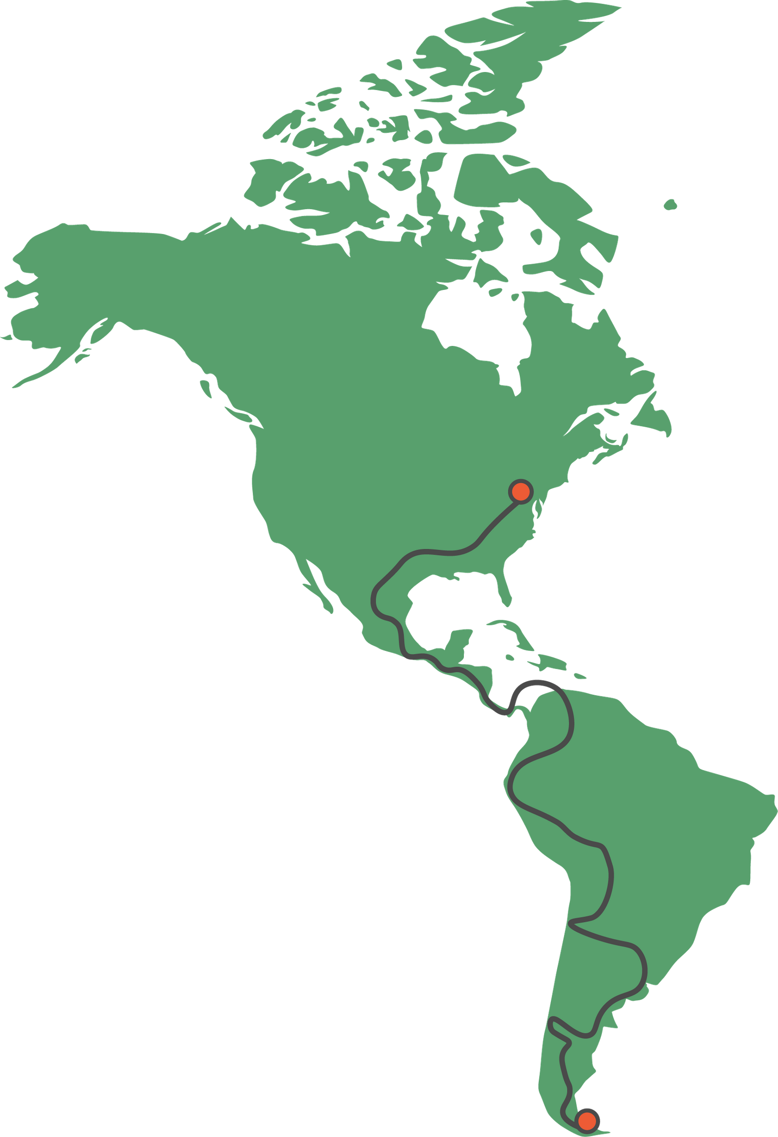 Pan-American Highway Map